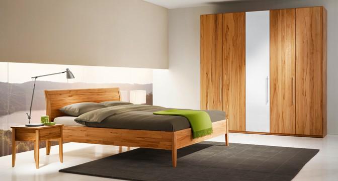 Team 7 Bett aus Holz - Schlafzimmermöbel aus Massivholz