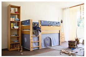 Team7 Kinderzimmer, Kinderzimmermöbel massiv, Kinderbetten, Hochbett massiv
