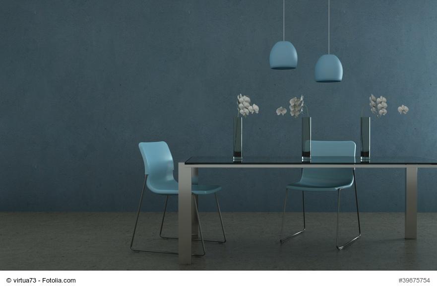 Wohndesign - Esszimmer blau