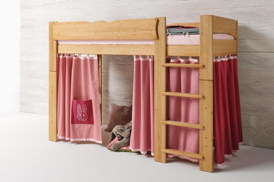 Kinder-Höhlenbett MOBILE, Erle massiv