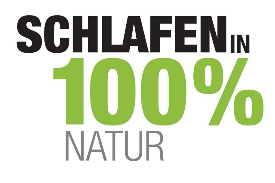 Schlafen in 100% Natur