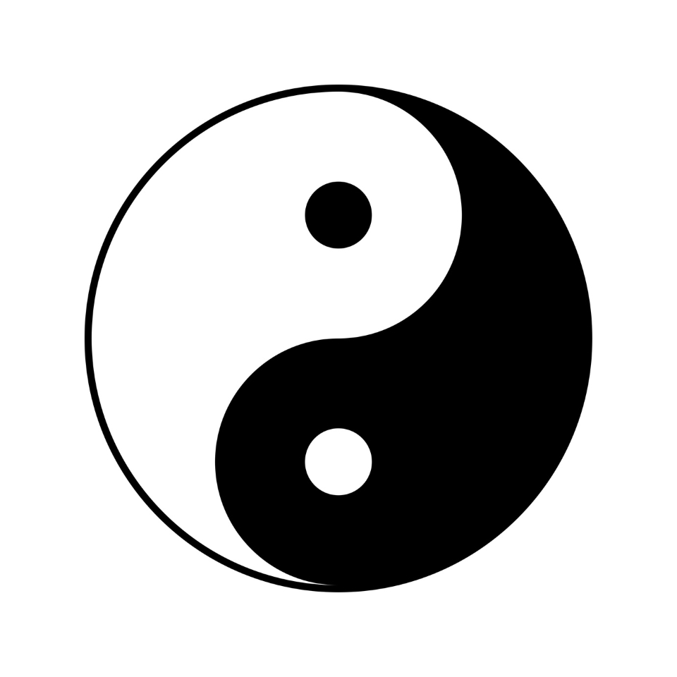 Yin and yang symbol, vector illustration