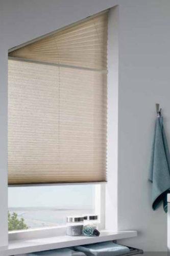 Schiebe-Jalousien Plissee: Für alle Fenster und Dachbeschattung, Sonderformen nach Maß für schräge Fenster